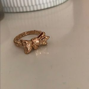 Marc by Marc Jacobs rose gold bow ring